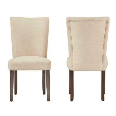 Whitmire Oatmeal Linen Dining Chair (Set of 2) - Home Depot
