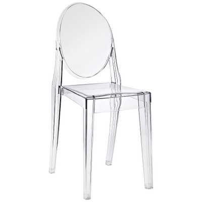 Casper Clear Outdoor Dining Chair - Style # 33T23 - Lamps Plus