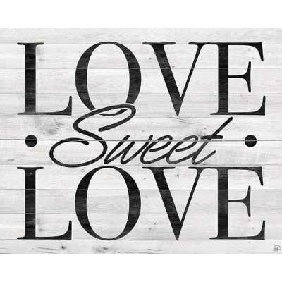 "16 in. x 20 in. ""Love Sweet Love"" Acrylic Wall Art Print, .N/A - Home Depot"