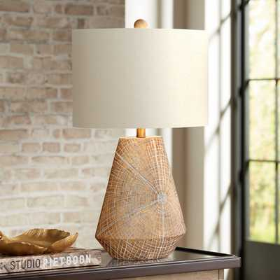 Webler Copper Faux Wood Table Lamp - Style # 55V09 - Lamps Plus