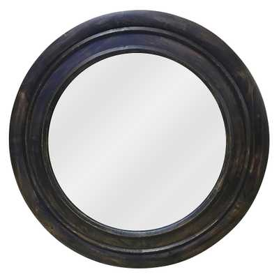 """Reggie Black and Camouflage Color 31"""" Round Wall Mirror - Style # 67F80 - Lamps Plus"""