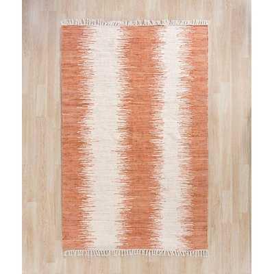 Shenandoah Handwoven Flatweave Cotton Orange Area Rug - AllModern