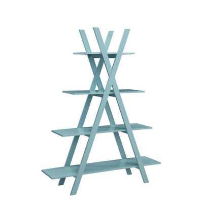 "Convenience Concepts Oxford Sea Foam (Blue) ""A"" Frame Bookshelf - Home Depot"