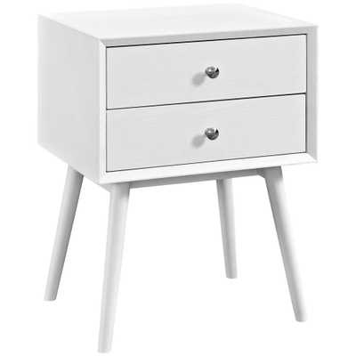 Dispatch White Nightstand in, White White - Home Depot