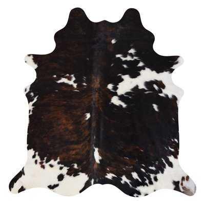 Oavia Real 6' x 7' Cowhide Brown/Black Area Rug - Wayfair
