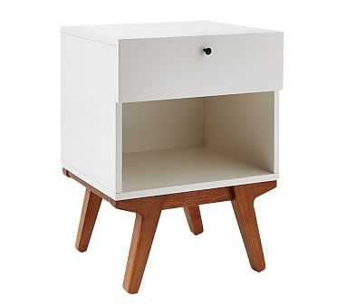 west elm x pbk Modern Nightstand, White Lacquer - Pottery Barn Kids