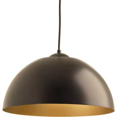 Progress Lighting Dome Collection 17-Watt Antique Bronze Integrated LED Pendant - Home Depot