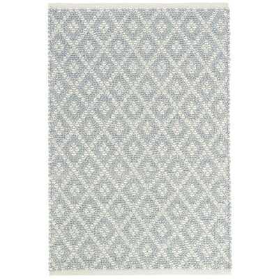 Marled Diamond Handwoven Flatweave Cotton Light Blue Area Rug - Wayfair