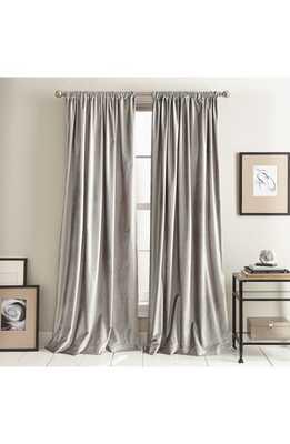 Dkny Modern Slub Velvet Set Of 2 Window Panels, Size 50x96 - Metallic - Nordstrom