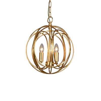 Y Decor 3-Light Gold Chandelier - Home Depot