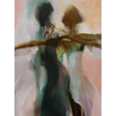'Abstract Silhouette of Female Dancers' Painting Print on Wrapped Canvas - Wayfair