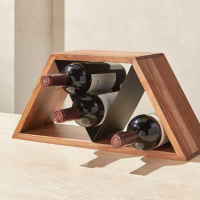 Jasper Mixed-Material 9-Bottle Wine Rack - Crate and Barrel