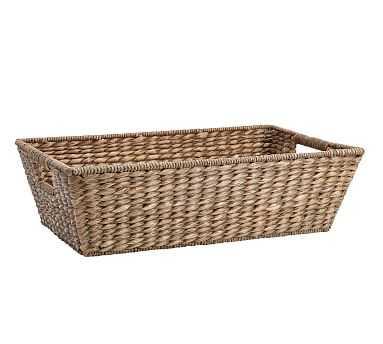 Charleston Basket Underbed, Medium - Gray - Pottery Barn