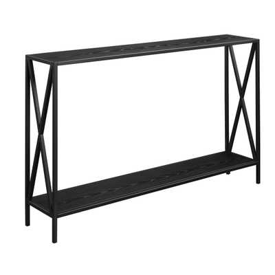 Tucson Black Console Table - Home Depot