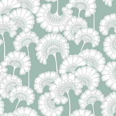 "Japanese Floral 27' L x 27"" W Wallpaper Roll - AllModern"