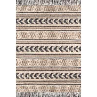Alberta Handwoven Flatweave Beige/Gray Area Rug - AllModern