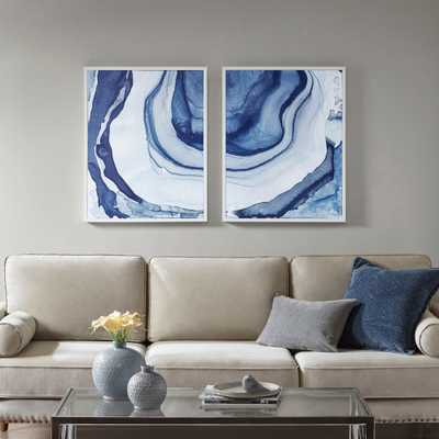 Ethereal Printed Framed Canvas 2pc Decorative Wall Art Set Blue - Target