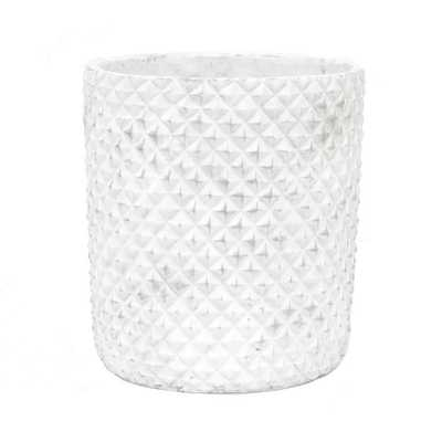 White Flower Pot - Home Depot