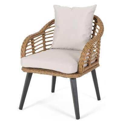 Aarhus Indoor Wicker Club Chair (Set of 2) - Wayfair