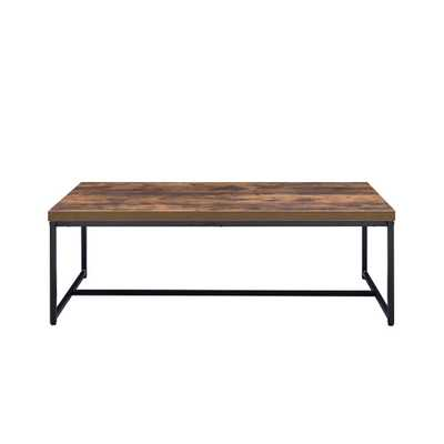 Bob Weathered Oak and Black Coffee Table - Home Depot