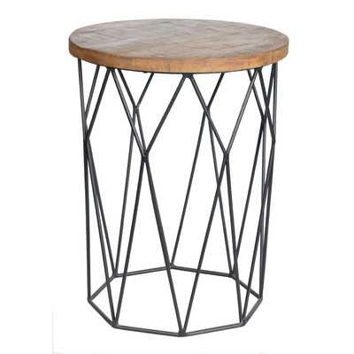 Ahart Drum End Table - Wayfair