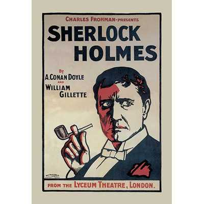 Sherlock Holmes: The Lyceum Theatre, London by John Stewart Browne Framed Vintage Advertisement - Wayfair