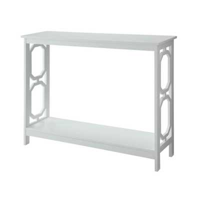 Omega White Console Table - Home Depot
