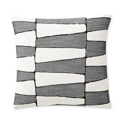 "Perennials Tribal Trellis Pillow Cover, 20"" X 20"", Black - Williams Sonoma"