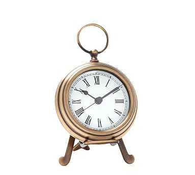 Pocket Watch Clock, Small, Brass - Pottery Barn