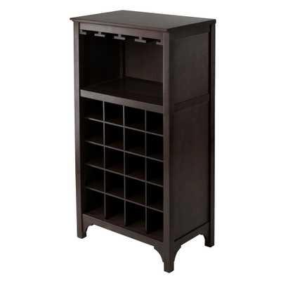 Ancona 20-Bottle Espresso (Brown) Bar Cabinet - Home Depot