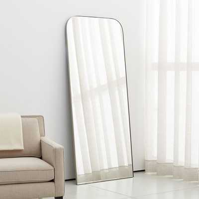 Edge Brushed Nickel Arch Floor Mirror - Crate and Barrel