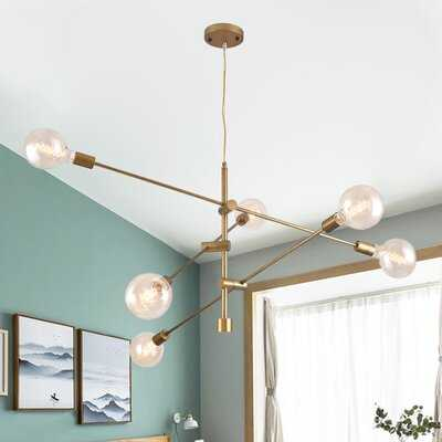 Schulman 6 - Light Sputnik Modern Linear Chandelier - Wayfair