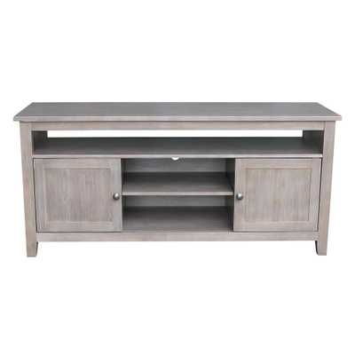 International Concepts 57 in. W Taupe Gray TV Console, Weathered Taupe Gray - Home Depot