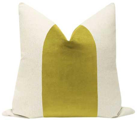 "PANEL :: Classic Velvet // Chartreuse - Sample 4"" X 4"" - Little Design Company"