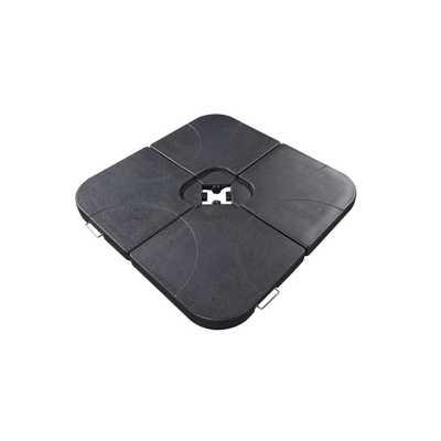 Velago 40 in. Cross-Arm Umbrella Base Weights in Black (4-Piece) - Home Depot