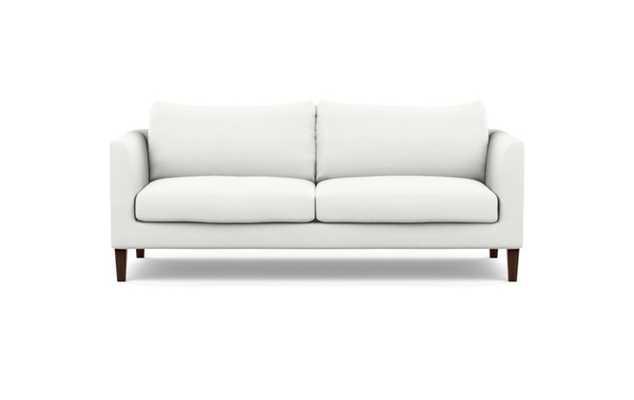 Owens Sofa with Swan Fabric and Oiled Walnut legs - Interior Define