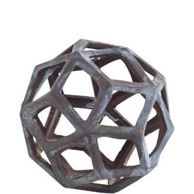 Mercana Geom I Decorative Object, Gray - Home Depot