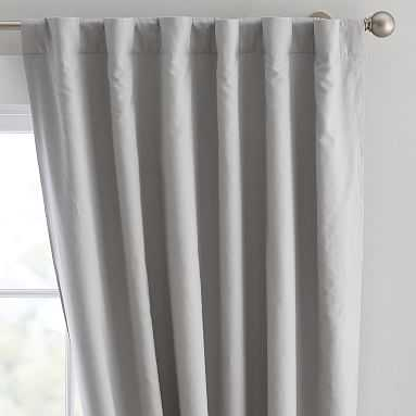 "Washed Linen Blackout Drape, 84"", Light Gray - Pottery Barn Teen"