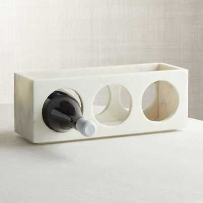 Marble Stacking 3-Bottle Wine Rack - Crate and Barrel