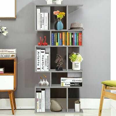 Fonseca 5 Cubes Ladder Shelf Freestanding Corner Bookshelf Display Rack Bookcase Black - Wayfair