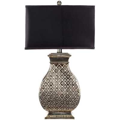 Safavieh Malaga 29 in. Silver Table Lamp - Home Depot