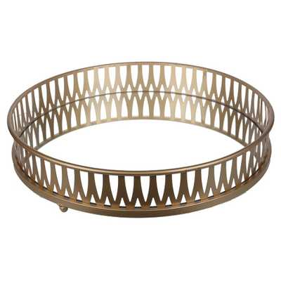 Round Gold Tray - A&b Home, Light Gold - Target