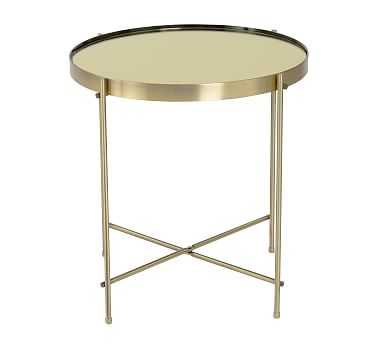 Keenan Side Table, Brass - Pottery Barn