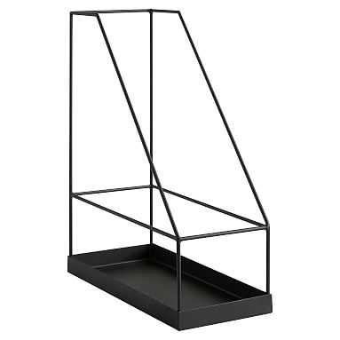 Silhouette Desk Accessories, Magazine Caddy, Charcoal - Pottery Barn Teen