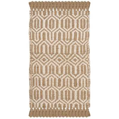 Oakland Fiber Hand-Woven Natural/Ivory Area Rug - Wayfair