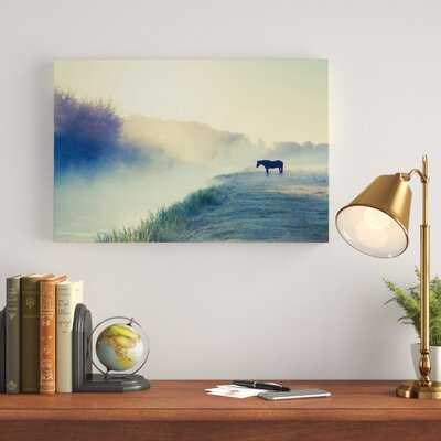 'Horse in The Fog' Painting Print on Wrapped Canvas - Wayfair