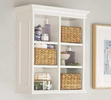 Newport Wall Cabinet, White - Pottery Barn