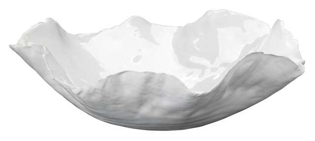 Large Peony Bowl in White Ceramic - Jamie Young