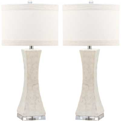 Table Lamp - White (Set of 2) - Safavieh - Target