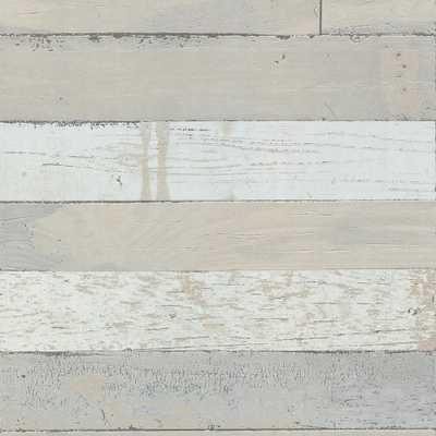 8 in. x 10 in. Teton Taupe (Brown) Shiplap Wallpaper Sample - Home Depot